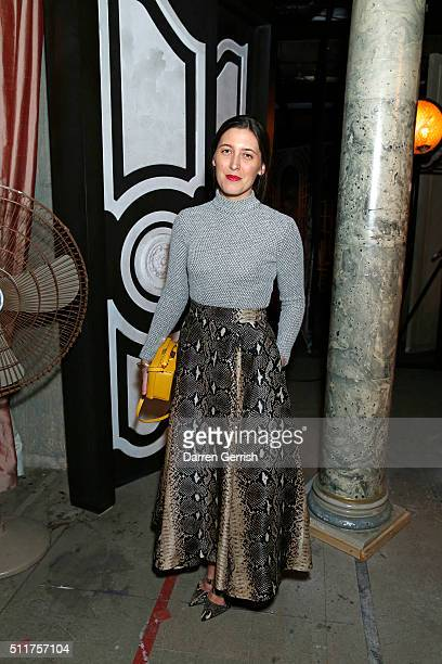 Emilia Wickstead attends the Erdem x Selfridges Wrap Party during London Fashion Week Autumn/Winter 2016/17 at on February 22 2016 in London England