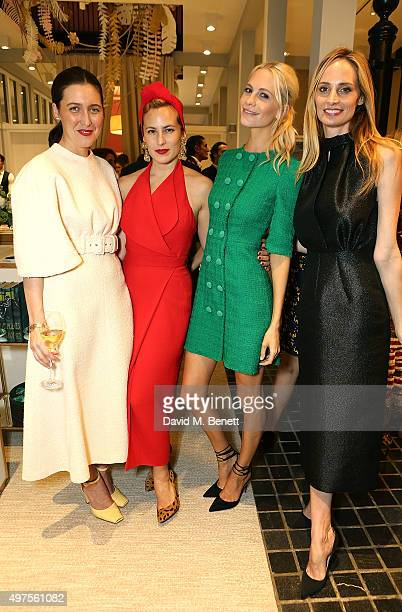 Emilia Wickstead Charlotte Olympia Poppy Delevingne and Lauren Santo Domingo attend the Moda Operandi Holiday dinner hosted by Lauren Santo Domingo...