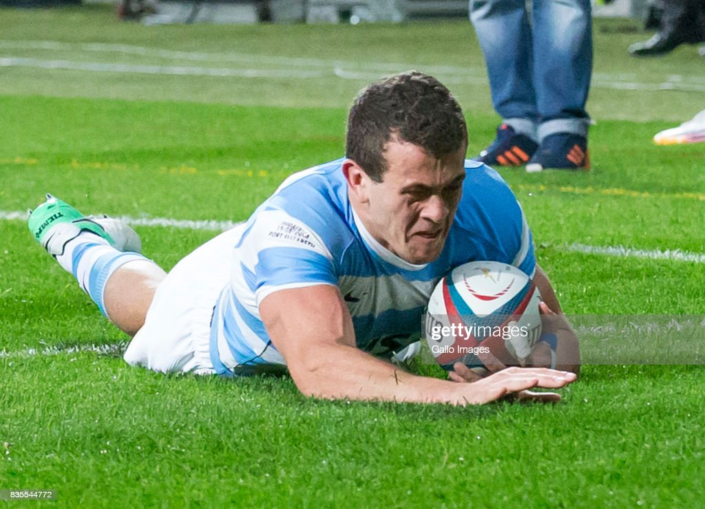 Emiliano Boffelli of Argentina during the Rugby Championship match between South Africa and Argentina at Nelson Mandela Bay Stadium on August 19, 2017 in Port Elizabeth, South Africa.