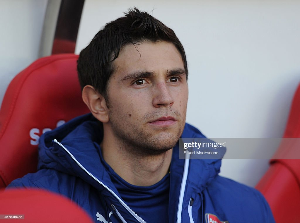Emiliano Martinez of Arsenal before the Barclays Premier League match between Sunderland and Arsenal at Stadium of Light on October 25, 2014 in Sunderland, England.