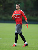 Emiliano Martinez of Arsenal during a training session at London Colney on July 21 2016 in St Albans England
