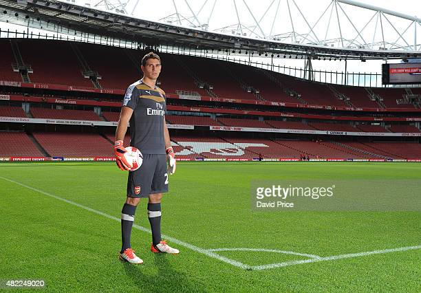 Emiliano Martinez of Arsenal during the 1st team photocall at Emirates Stadium on July 28 2015 in London England