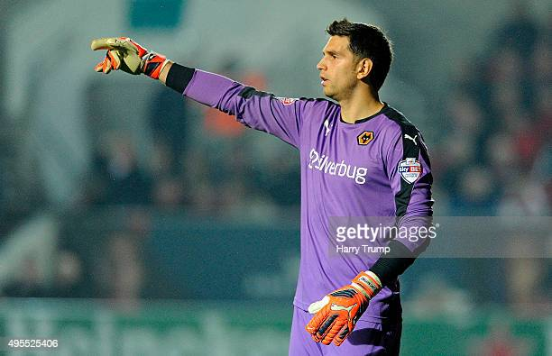 Emiliano Martinez of Wolverhampton Wanderers during the Sky Bet Championship match between Bristol City and Wolverhampton Wanderers at Ashton Gate on...