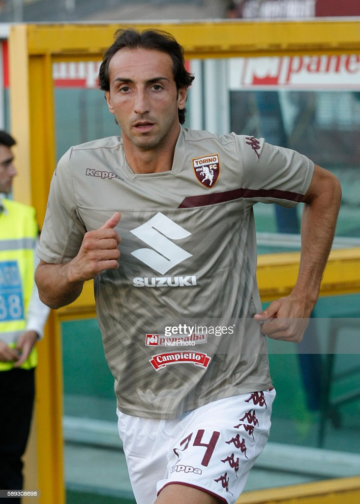 Emiliano Moretti before the Tim Cup 20162017 match between Torino FC and FC Pro Vercelli at the Olympic Stadium of Turin on august 013 2016 in Torino...