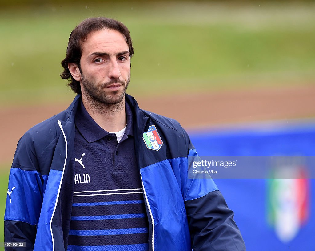 <a gi-track='captionPersonalityLinkClicked' href=/galleries/search?phrase=Emiliano+Moretti&family=editorial&specificpeople=653861 ng-click='$event.stopPropagation()'>Emiliano Moretti</a> during Italy Training Session at Coverciano on March 25, 2015 in Florence, Italy.