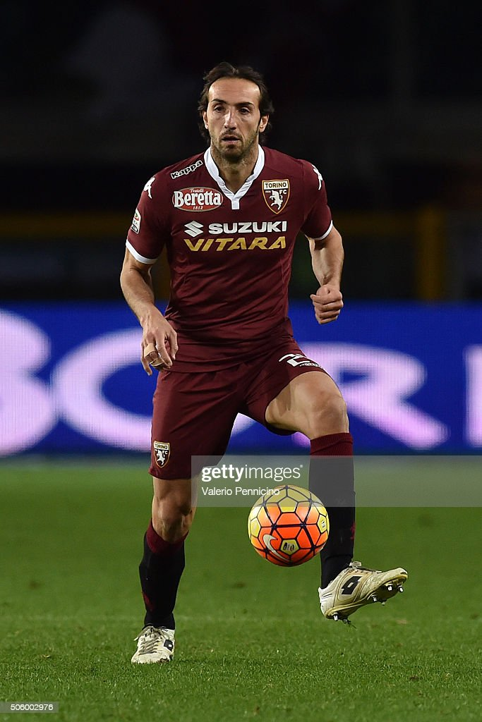 <a gi-track='captionPersonalityLinkClicked' href=/galleries/search?phrase=Emiliano+Moretti&family=editorial&specificpeople=653861 ng-click='$event.stopPropagation()'>Emiliano Moretti</a> of Torino FC in action during the Serie A match between Torino FC and Frosinone Calcio at Stadio Olimpico di Torino on January 16, 2016 in Turin, Italy.