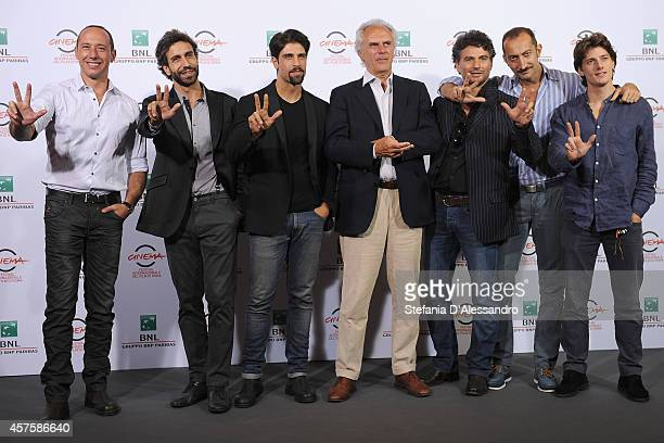 Emiliano Ragno Massimiliano Benvenuto Gilles Rocca Marco Risi Leandro Amato Vincenzo De Michele and Antonio Folletto attend the 'Tre Tocchi'...