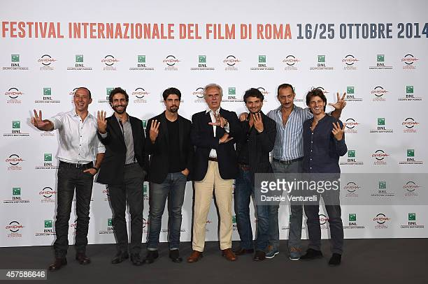 Emiliano Ragno Massimiliano Benvnuto Gilles Rocca Marco Risi Landro Amato Vincenzo De Michele and Antonio Folleto attend the 'Tre Tocchi' Photocall...