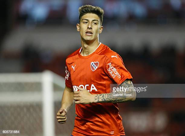 Emiliano Rigoni of Independiente looks on during a match between Independiente and Lanus as part of Copa Sudamericana 2016 at Libertadores de America...