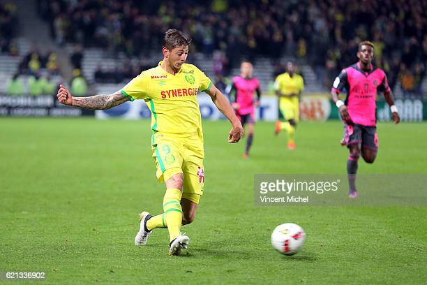 Emiliano Sala of Nantes during the Ligue 1 match between Fc Nantes and Toulouse Fc at Stade de la Beaujoire on November 5 2016 in Nantes France