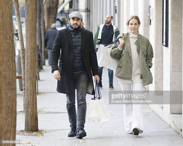 Emiliano Suarez and Carola Baleztena are seen on December 18 2016 in Madrid Spain