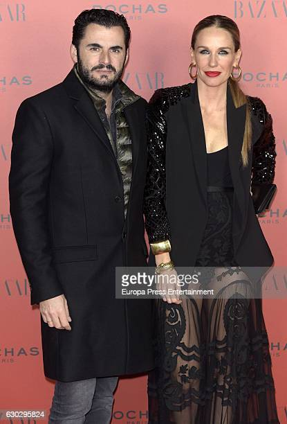 Emiliano Suarez and Carola Baleztena attend Harper's Bazaar Flamenco Christmas Party in honor to USA ambassador James Costos and interior designer...