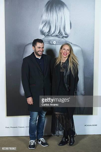 Emiliano Suarez and Carola Baleztena attend 'LOEWE Past Present Future' exhibition at Jardin Botanico on November 17 2016 in Madrid Spain