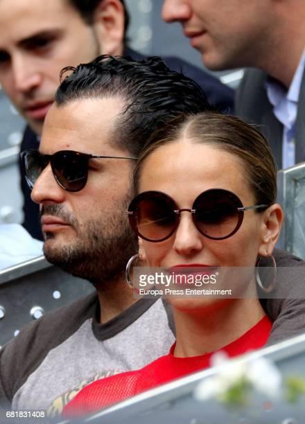 Emiliano Suarez and Carola Baleztena attend Mutua Madrid Open tennis at La Caja Magica on May 10 2017 in Madrid Spain