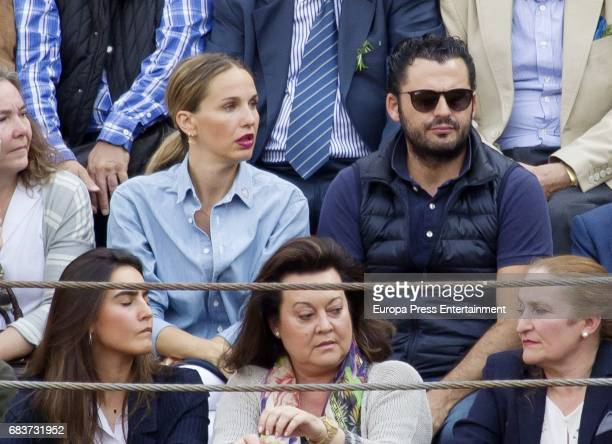 Emiliano Suarez and Carola Baleztena attend 'San Isidro' Bullfight Fair at Las Ventas bullring on May 15 2017 in Madrid Spain