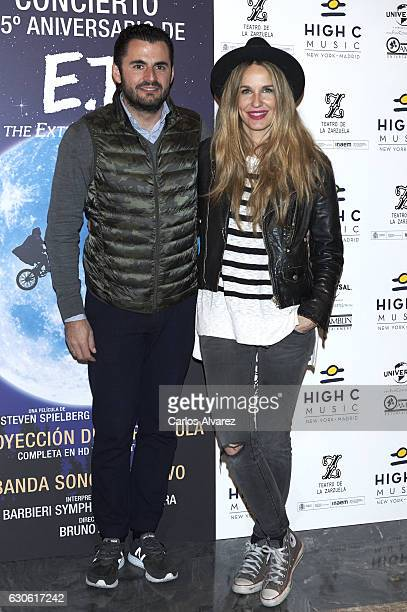 Emiliano Suarez and Carola Baleztena attend the ET 35th anniversary concert at the Zarzuela Theater on December 28 2016 in Madrid Spain