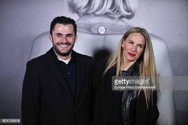 Emiliano Suarez and Carola Baleztena attend the opening of the exhibition 'LOEWE Past Present Future' at Botanic Garden on November 17 2016 in Madrid...