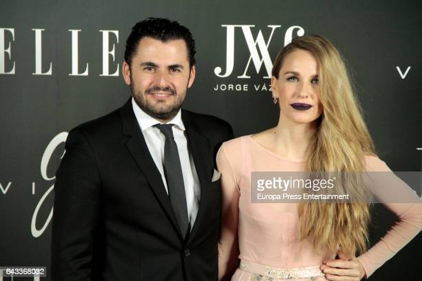 Emiliano Suarez and Carola Baleztena attends the 'Elle Jorge Vazquez' photocall at Principe Pio theatre on February 20 2017 in Madrid Spain