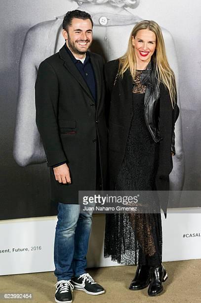 Emiliano Suarez and Carola Baleztena attends the 'LOEWE Past Present Future' inauguration exhibition at Jardin Botanico on November 17 2016 in Madrid...