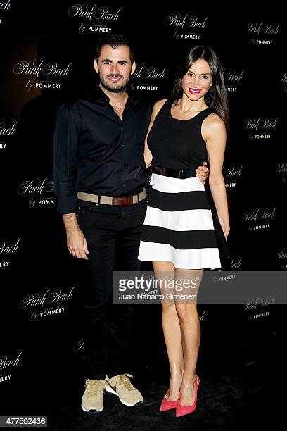 Emiliano Suarez and Cecilia Gomez attend to the inauguration of the 'Punk Bach Terrace' at Punk Bach on June 17 2015 in Madrid Spain