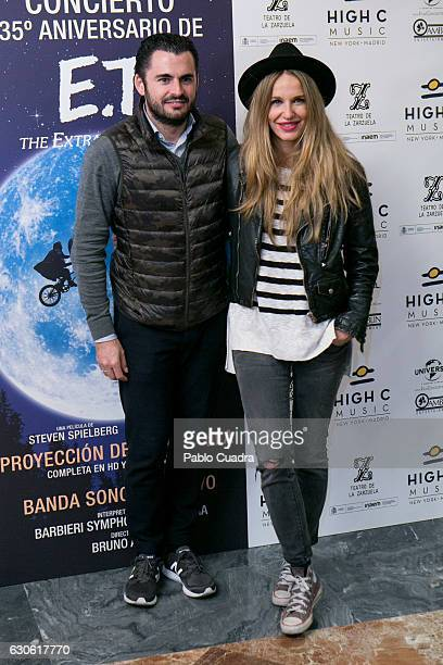Emiliano Suarez and wife Carola Baleztena attend the ET 35th anniversary concert at the Zarzuela Theater on December 28 2016 in Madrid Spain