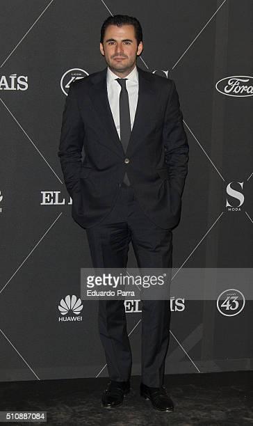 Emiliano Suarez attends 'S Moda' magazine party photocall at Real Academa de Bellas Artes de San Fernando on February 17 2016 in Madrid Spain