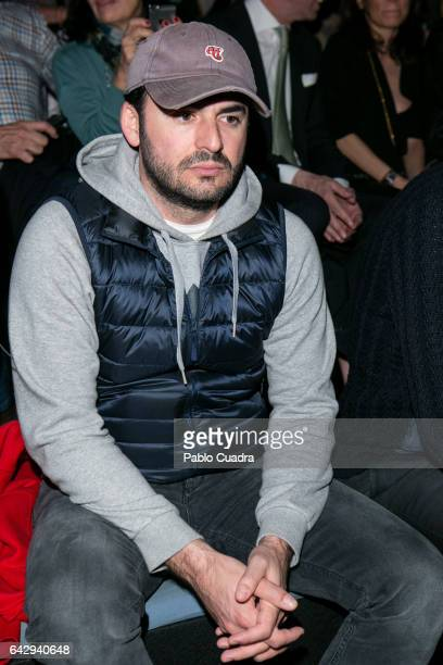 Emiliano Suarez attends the front row of Custo Barcelona show during Mercedes Benz Fashion Week Madrid Autumn / Winter 2017 at Ifema on February 19...