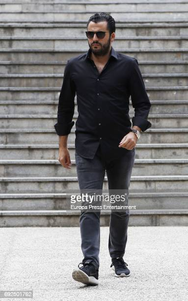 Emiliano Suarez attends the funeral chapel for the fashion designer David Delfin at Dress Museum on June 4 2017 in Madrid Spain