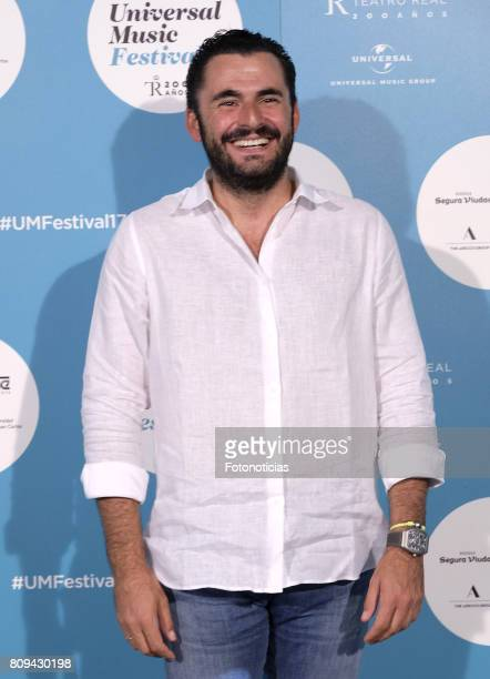 Emiliano Suarez attends the Universal Music Festival Sting's concert at the Teatro Real on July 5 2017 in Madrid Spain