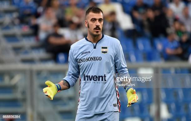 Emiliano Viviano goalkeeper of Sampdoria during the Serie A match between US Sassuolo and UC Sampdoria at Mapei Stadium Citta' del Tricolore on April...