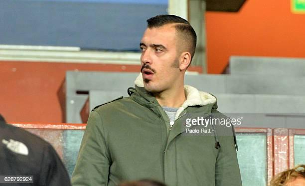 Emiliano Viviano goalkeeper Sampdoria in tribune during the TIM Cup match between UC Sampdoria and Cagliari Calcio at Stadio Luigi Ferraris on...