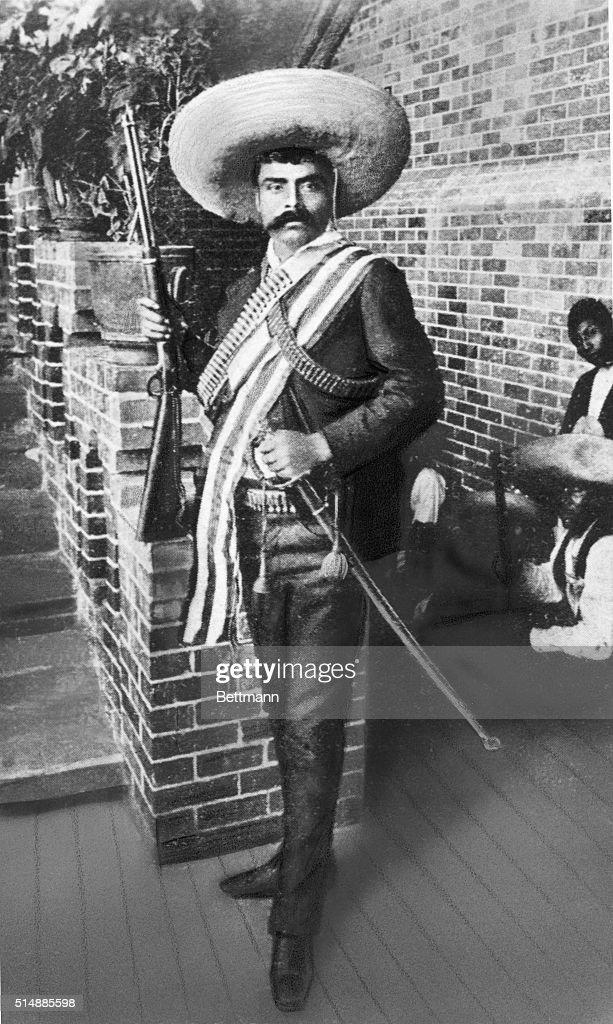 <a gi-track='captionPersonalityLinkClicked' href=/galleries/search?phrase=Emiliano+Zapata&family=editorial&specificpeople=743817 ng-click='$event.stopPropagation()'>Emiliano Zapata</a> (1877-1919), Mexican revolutionist. Undated photograph.