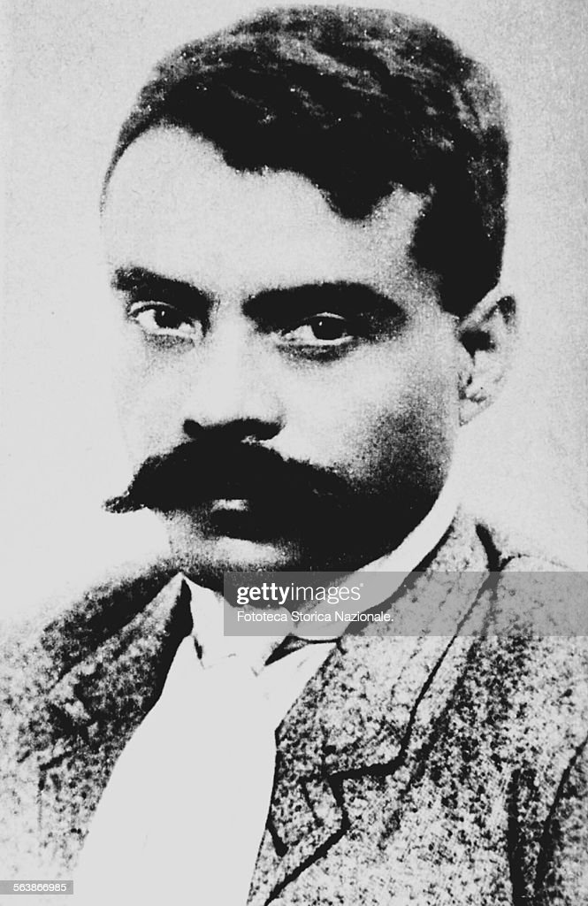 <a gi-track='captionPersonalityLinkClicked' href=/galleries/search?phrase=Emiliano+Zapata&family=editorial&specificpeople=743817 ng-click='$event.stopPropagation()'>Emiliano Zapata</a> Salazar (1879-1919) portrait of the general of the South, during the Mexican revolution; he was revolutionary, political and active in guerrilla mexican. The general of the northern faction was Pancho Villa. Photography, Mexico 1910. (Photo by Fototeca Gilardi/Getty Images).