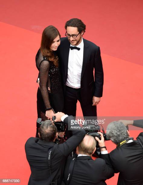 Emilie Broussouloux and Thomas Hollande attend the 'Amant Double ' screening during the 70th annual Cannes Film Festival at Palais des Festivals on...