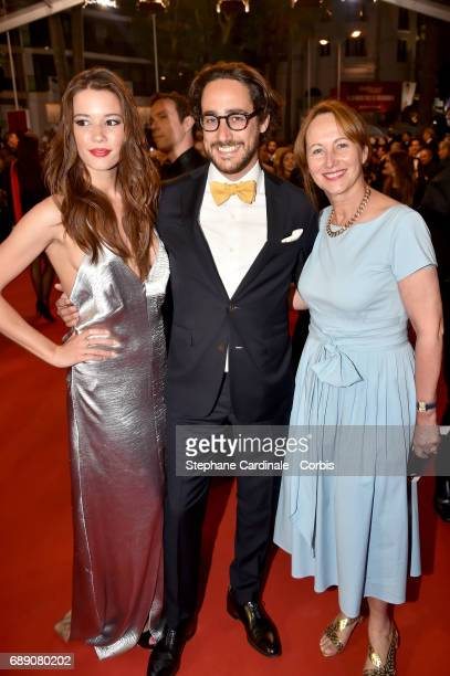 Emilie Broussouloux Thomas Hollande and Segolene Royal attend the 'You Were Never Really Here' screening during the 70th annual Cannes Film Festival...
