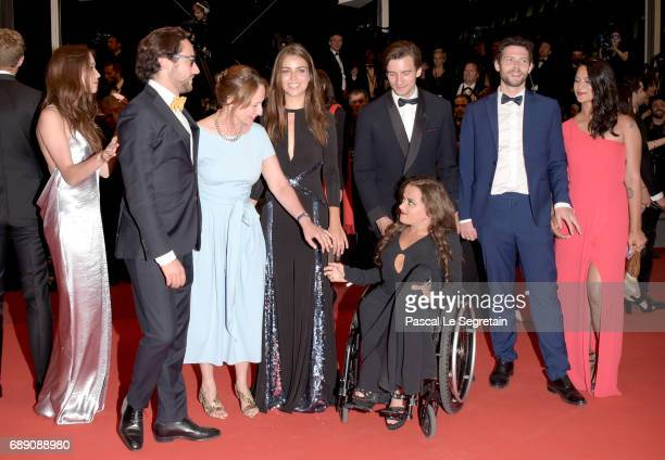 Emilie Broussouloux Thomas Hollande Segolene Royal and guests attend the 'You Were Never Really Here' screening during the 70th annual Cannes Film...