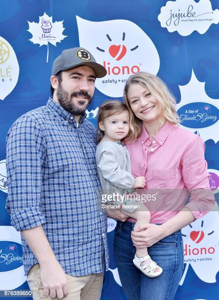 Emilie de Ravin and family attend Diono Presents Inaugural A Day of Thanks and Giving Event at The Beverly Hilton Hotel on November 19 2017 in...