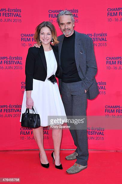 Emilie Dequenne and Jeremy Irons attend the 4th Champs Elysees Film Festival Opening Ceremony and Valley of Love Premiere at Publicis Champs Elysees...