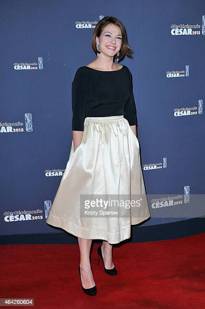 Emilie Dequenne attends the 40th Cesar Film Awards at Theatre du Chatelet on February 20 2015 in Paris France