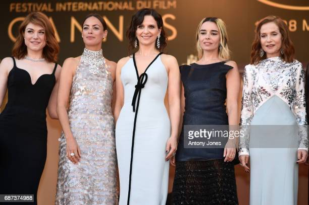 Emilie Dequenne Berenice Bejo Juliette Binoche Elodie Bouchez and Isabelle Huppert attend the 70th Anniversary of the 70th annual Cannes Film...