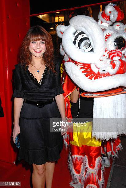 Emilie Dequenne during Buddha Bar 10th Anniversary Diner Party at Buddha Bar in Paris France