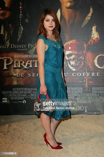 Emilie Dequenne during 'Pirates of The Caribbean Dead Man's Chest' Paris Premiere at Gaumont Marignan Theater in Paris France