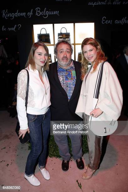 Emilie Dequenne guest and Hande Kodja attend Delvaux Cocktail as part of Paris Fashion Week Womenswear at Jardin du Palais Royal on March 5 2017 in...