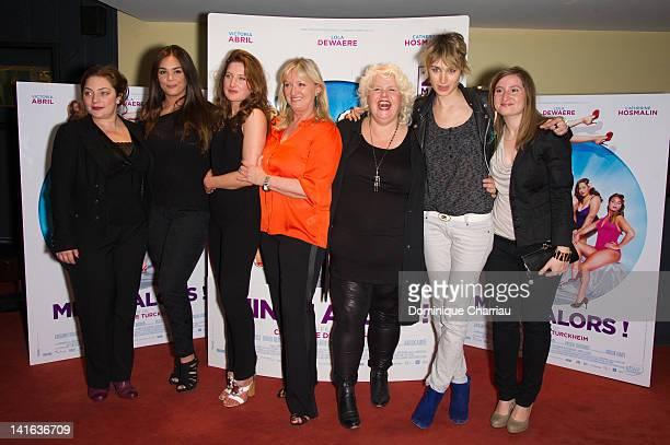 Emilie GavoisKahn Lola Dewaere Julia Piaton Charlotte de Turckheim Catherine Hosmalin Pauline Lefevre and guest attend 'Oh Mince' Paris Premiere at...