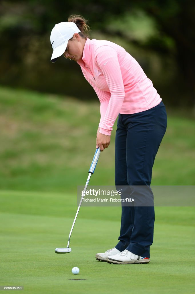 Emilie Overas of Norway putts during the final of the Girls' British Open Amateur Championship at Enville Golf Club on August 19, 2017 in Stourbridge, England.