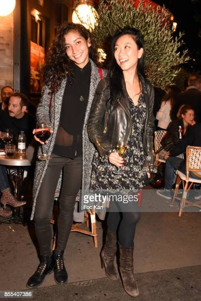 Emilie Payet and Malika Lambert attend the 'Apero Gouter' Cocktail Hosted by Le Grand Seigneur Magazine at Bistrot Marguerite on September 28 2017 in...