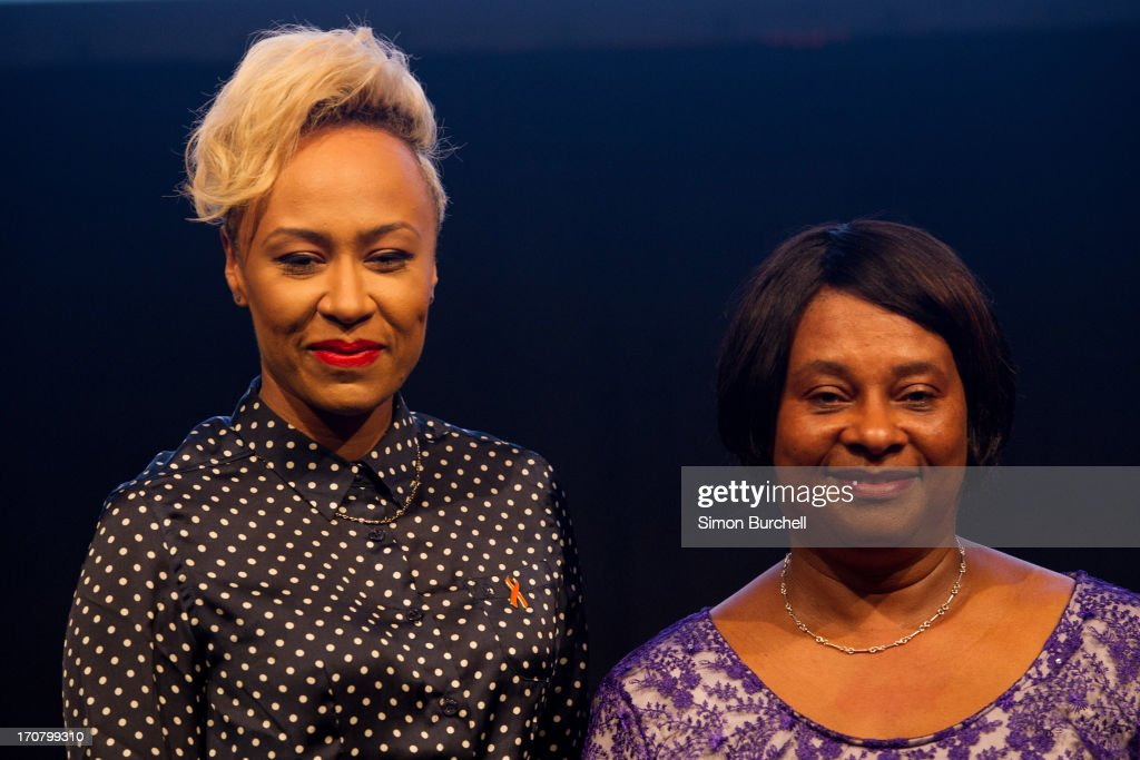 Emilie Sande and Doreen Lawrence attend a photocall to accounce 'Unity - A Concert for Stephen Lawrence' at Abbey Road Studios on June 18, 2013 in London, England.