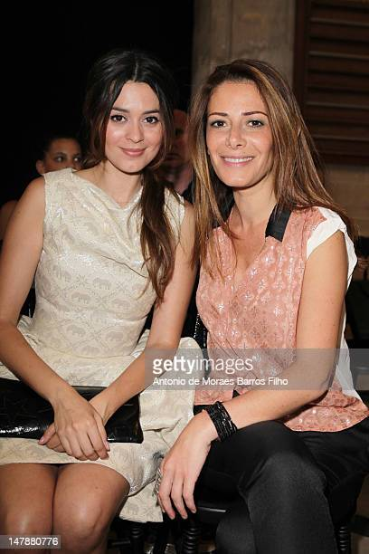 Emilie Simon and Elsa Fayer attends the Didit Hediprasetyo HauteCouture Show as part of Paris Fashion Week Fall / Winter 2013 at L'Oratoire Du Louvre...