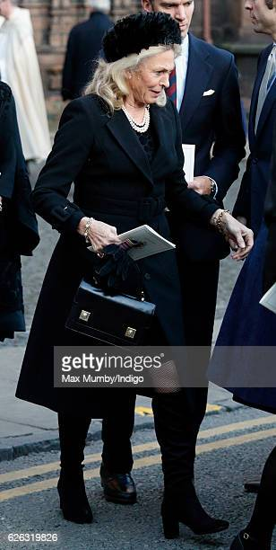 Emilie van Cutsem attends a Memorial Service for Gerald Grosvenor 6th Duke of Westminster at Chester Cathedral on November 28 2016 in Chester England...
