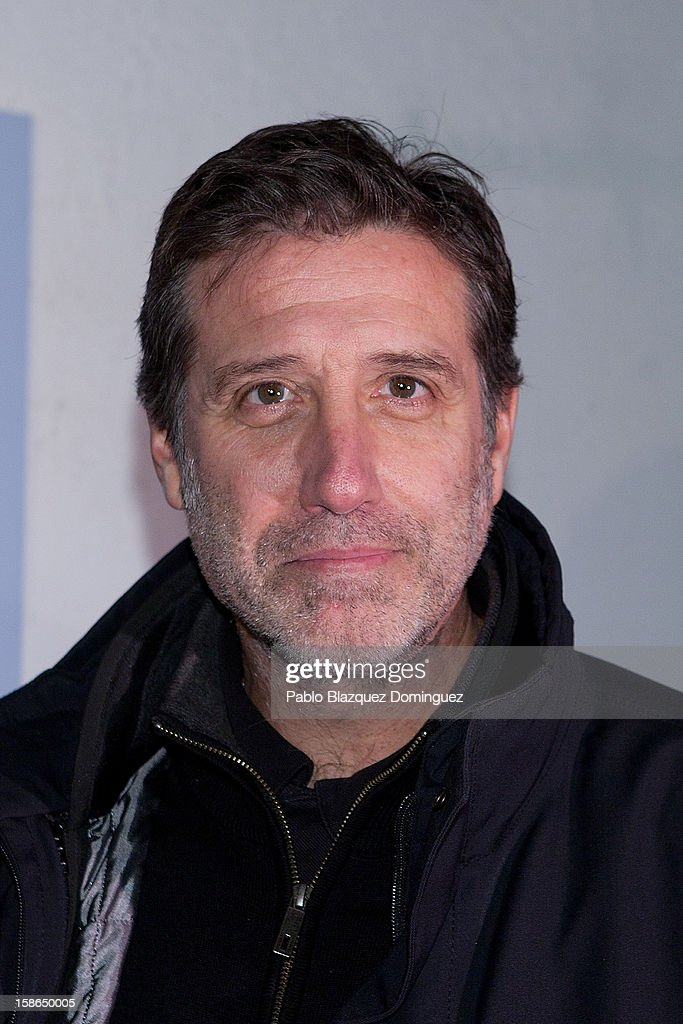 Emilio Aragon attends 'Absolutamente Comprometidos' premiere at Teatro del Arte de Madrid on December 22, 2012 in Madrid, Spain.
